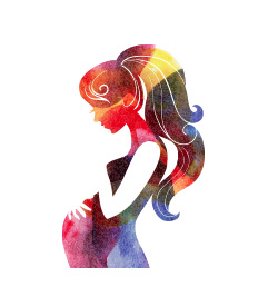 תמונת אילוסטרציה של אמא בהריון מלטפת את הבטן